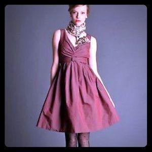 Gorgeous MadMen style wine fit&flare dress sz 12